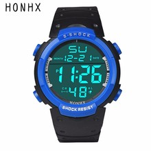 HONHX Brand Mens Digital Watches Luxury Rubber LCD Stopwatch Date Electronic Wrist Watch Men Sport Clock Reloj Montre #JOYL
