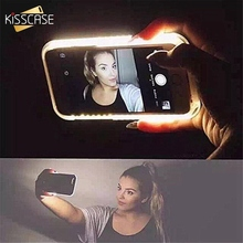 Buy KISSCASE Phone Case iPhone 6S 7 Plus Anti-Skid Emitting Hard Back Shell iPhone 5 5S Fashion Selfie LED Flash Light Case for $9.99 in AliExpress store