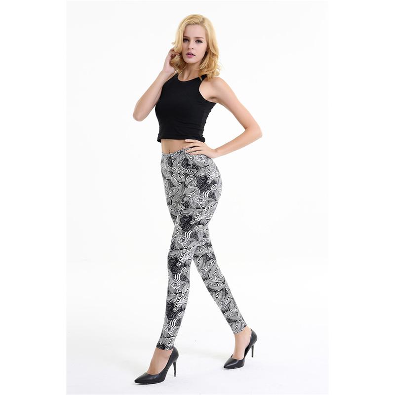 Dasbayla 17 Women Print Fashion Leggings Low Waist Thin stretch Ankle Skinny Pants Sexy Slim Ladies leggings Female 02 21