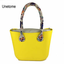Obag Style DIY EVA Mini Size bag with Insert inner pocket Colorful Handles Silicon Rubber Waterproof women bag
