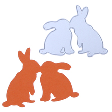 Buy 1pcs Metal Embossing Die Kiss Rabbit/Dog Cutting Die Metal Stencil Carbon Steel Scrapbook DIY Craft Dies Cut Paper Cutting Card for $1.26 in AliExpress store
