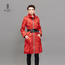 BASIC EDITIONS Women Long Trench Coat Spring Autumn Fashion Windbreaker Overcoat Pockets Spliced Slim Trench Coat FZ-082018(China)