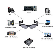 8GB Memory+ DVR  Audio Video mini Camera Sunglasses +Sport Camcorder Recorder+Mp3 Player +Bluetooth Headset For Outdoor Sports
