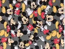 50*185cm mickey cotton elasticity knitted fabric Coat warmer thicker printed baby boy girl diy clothing fabric(China)