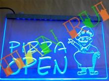 LB183- OPEN Pizza Cafe Restaurant LED Neon Light Sign