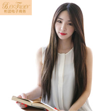 2017 Woman Real New Arrival Naruto Cosplay Standard Campus Belle Black Long Straight Wire Cos High Fashion Wig