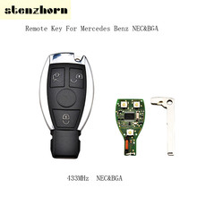 Stenzhor 433MHz 3 Buttons Smart Remote Car Key Mercedes Benz year 2000+ NEC&BGA style Auto Remote Control Original key
