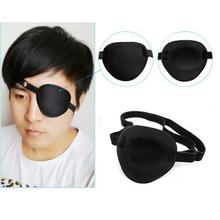 New Design Medical Use Concave Eye Patch Groove Washable Eyeshades Adjustable Strap Health Care Black Color
