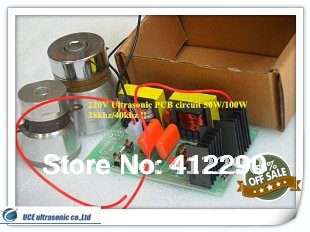 120W 220V Ultrasonic PCB Circuit 28khz UCE-220V Price including matching Transducers<br>