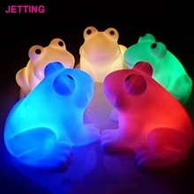 Funny Pop Magic LED Night Light Frog Shape Colorful Changing Lamp Room Bar Decor Decoration Novelty Gifts 8 Styles to Choose(China)