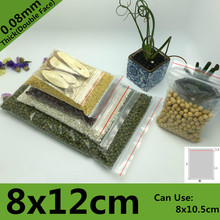 1000pcs 8*12cm PE Clear Transparent Photo Card Packaging Bags Plastic Travel Necklace Jewelry Diy Custom Ziplock Self Seal Bag(China)