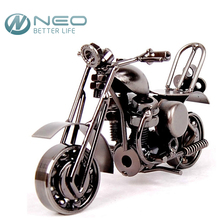 "NEO 14cm(5.5"")Vintage Motorcycle Model Retro Motor Figurine Iron Motorbike Prop Handmade Boy Gift Kids Toy Home Office Decor"