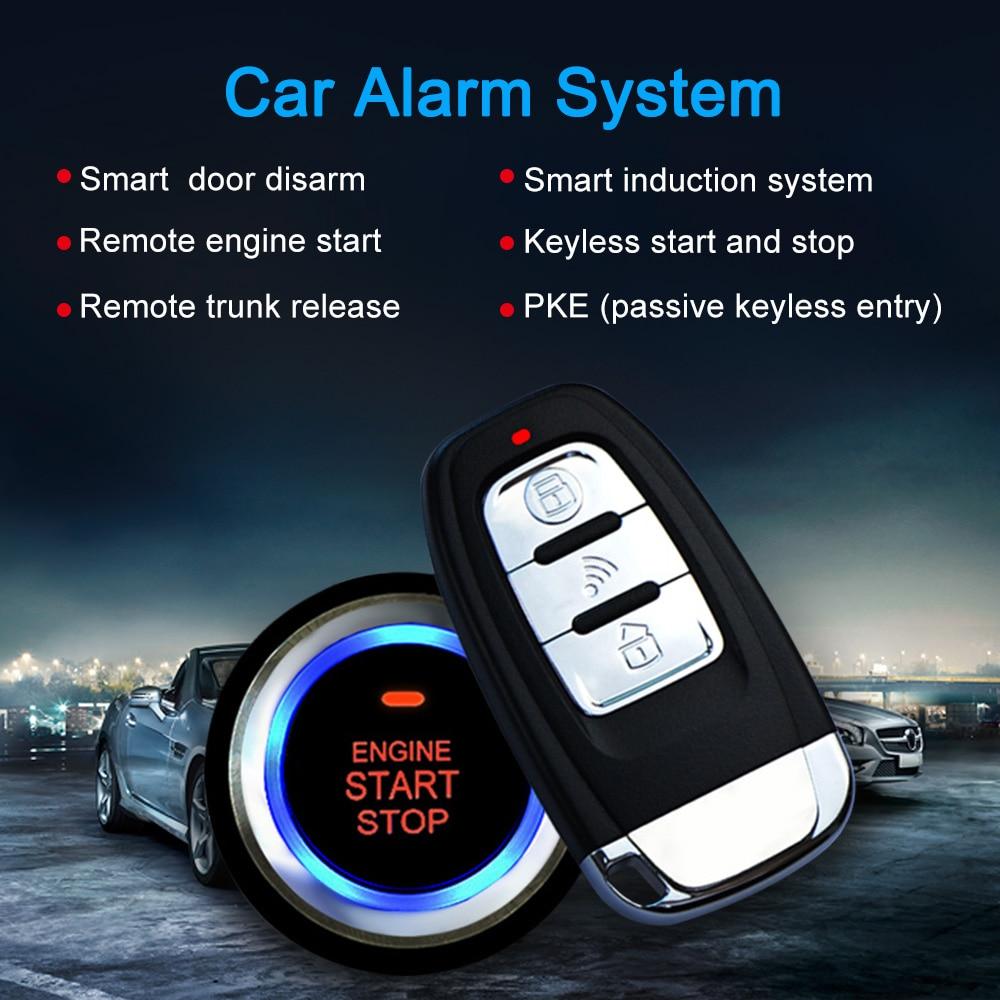 universal auto car alarm remote engine start stop button open close windows version smart key pke passive keyless entry system Alarm Install Wiring Diagram