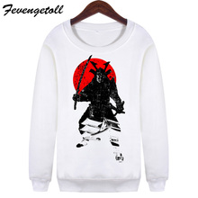 2017 Women Casual Punk Cat Hoodies Unisex Harajuku New Japanese warrior printed Sweatshirts Long Sleeve Pullovers WMH118