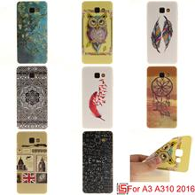Ultra Thin TPU Silicone Soft Phone Cell Case caso Cover For Samsung Samsu Samsuns Sumsung Galaxy Galaxi A3 2016 Dreamcatcher