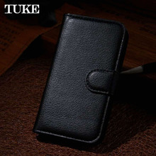 TUKE Luxury Wallet Credit Card Book Style Flip Stand Leather Case Back Cover for Vodafone smart speed 6 VF795 leather case(China)