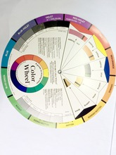 10 pcs/lot Large Artist Colour Wheel Swatches Permanent Makeup Micro Pigment Color Wheel Tattoo Training Tools(China)