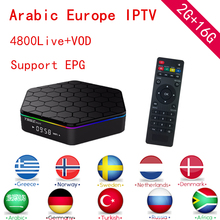 Buy T95Z Plus Android TV Box 1 Year IPTV Subscription Europe IPTV Sweden Arabic IPTV Amlogic S912 2G/16G H.265 4K Smart TV Box for $134.40 in AliExpress store