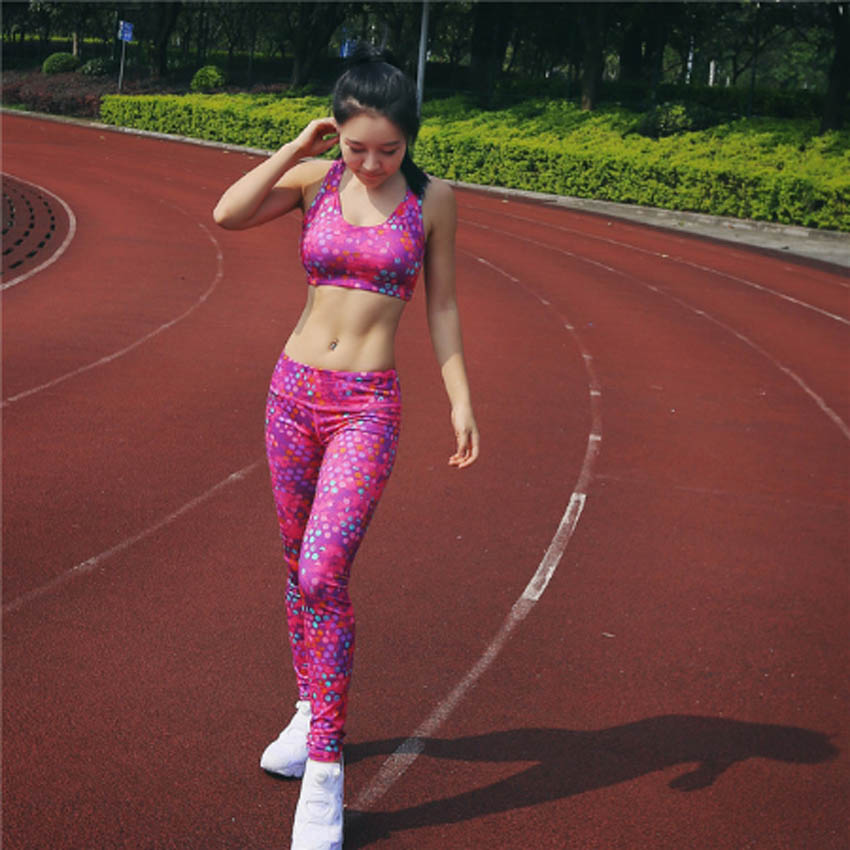 2017 Women Yoga Bra Pants Set Sport Fitness Running Tights Quick Drying Compression trousers Sets Gym Slim Legging<br><br>Aliexpress