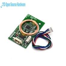 1pcs RFID Reader Wireless Module UART 3Pin 125KHz Card Reading EM4100 8CM DC 5V IC Card PCB Attenna Sensor Kits Arduino