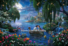 Thomas Kinkade Oil Paintings Romantic Love  Rurality  Giclee Canvas Paintings Spray Home Decorations And Posters