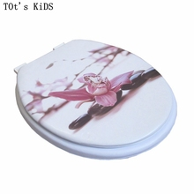 "toilet lid soft toilet seat Pink lily 2017 new design high quality warm toilet seat cover set sponge fashion 17"" toilet seat(China)"