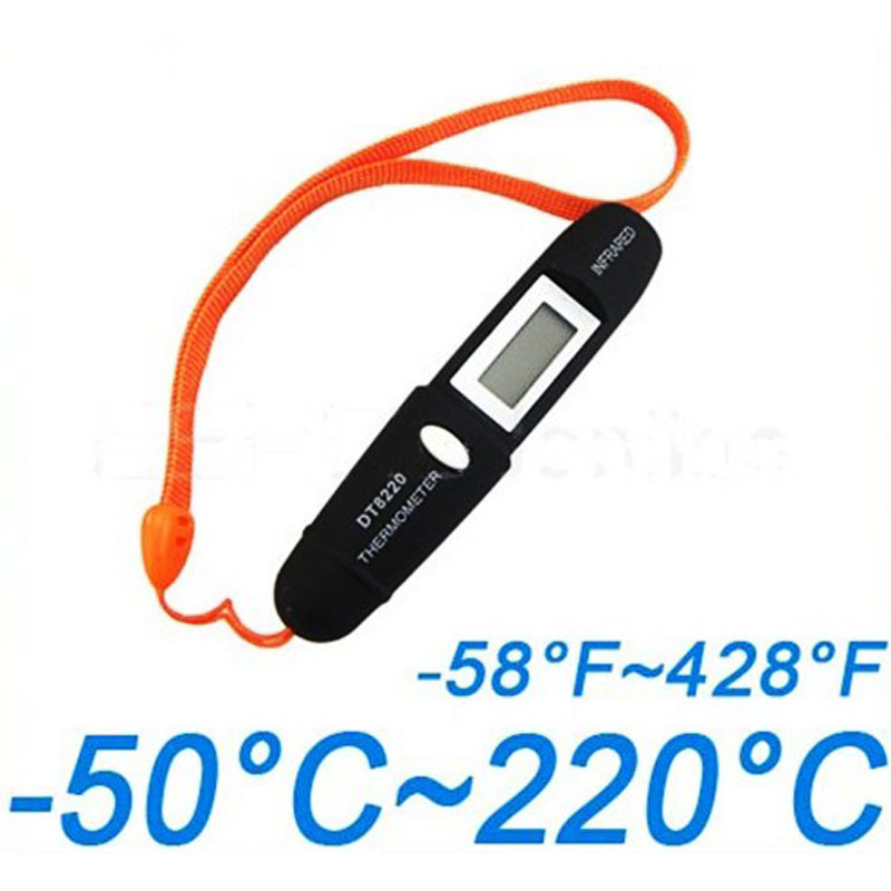 Mini Pocket Pen Type Non-Contact Infrared Laser IR Thermometer LCD Remote Sensing Electronic Digital with a strap portable Black(China (Mainland))