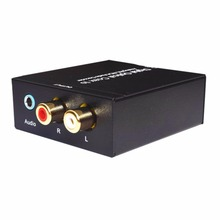 Digital Optical Coax to Analog R/L RCA Audio Decoder NK-Y2 Universal Device For Converting Coaxial Signal To Analog L/R In stock