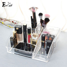 Crystal Acrylic Cosmetic Organizer case Makeup Storage Box Stand Rack Holder Sundry Organizer Boxes Creative household supplies(China)