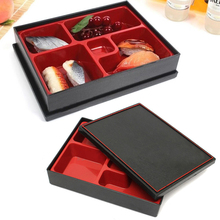 1pcs Business Bento Lunch Box Sushi Box Office Food Divided Container Japanese Style Lunchbox with wood box 27*21*5cm(China)