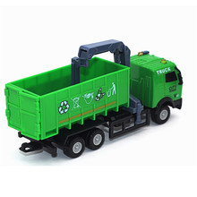 1:43 Racing Bicycle Shop Truck Toy Car Carrier Vehicle Garbage Truck  High Quality Dropshipping Free Shipping M22