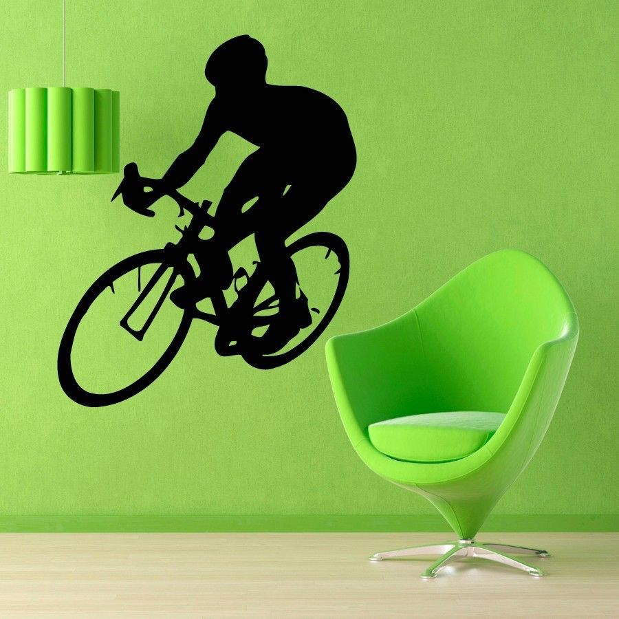Cycling Sticker Bicycle Bike Decal Muurstickers Posters Vinyl Art Wall Decals Pegatina Quadro Parede Decor Mural Cycling Sticker<br>