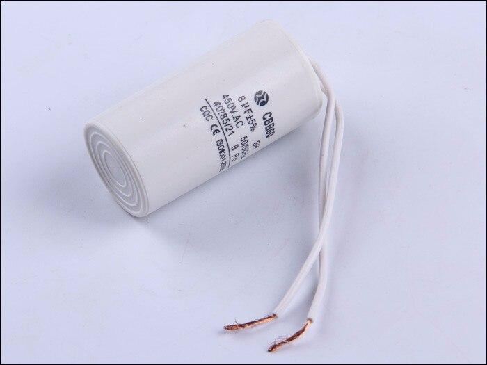 washing machine capacitor CBB60 8UF 450V motor run capacitor start capacitor capacitance.Free shipping<br><br>Aliexpress