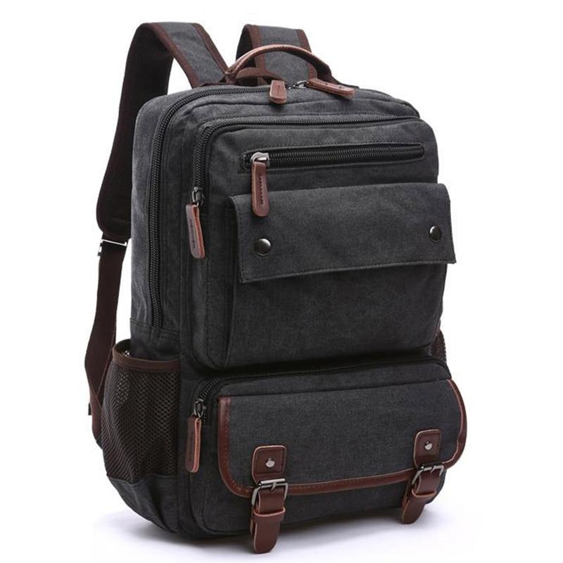 Unisex Vintage Backpack Men Travel Bags Canvas Bag Mochila Masculina Laptop Backpacks Women School Bag for Teenager Back Pack<br>