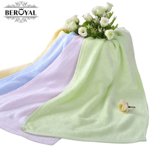 New 2017 Baby Towel -- 2pc/Lot 25*48cm Bamboo Hand Towel Baby Face Cloth Plain Dyed Children Bibs Soft Towels bathroom