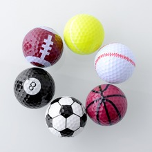 6PCs Novelty Assorted Creative Champion Sports Golf Balls Two layer colors golf balls for best gift for friend
