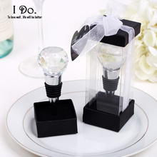 Free Shipping Crystal Wine Stopper Wedding Favors And Gifts Wedding Supplies Wedding Souvenirs Wedding Gifts For Guests(China)