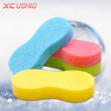 1pc Vacuum Compressed Honeycomb Sponge Car Cleaning Sponge Car Wax Wash Sponge Super Absorbent Cleaning Tools Random Color(China)