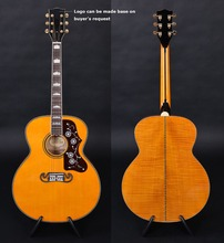 Customized acoustic guitar, J-200 guitar , Guitarra acustica, flamed maple back and side