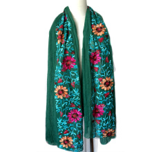 2016 Ethnic Style Embroidered Scarves and Shawls  Fashion Design Artistic Style Bandana and Pashmina cotton scarf  for woman