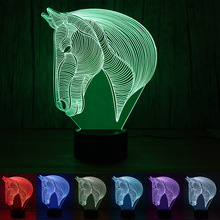 Touch night light manufacturers wholesale Ma head colorful gradient led energy saving lamp USB powered acrylic lampshade(China)