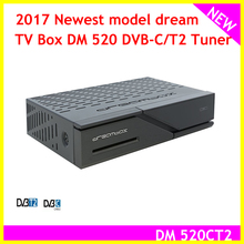 2017 Newest model dream tv box dm 520 DVB-C/T2 Tuner Linux OS TV Receiver Full HD 1080p DM520HD H.265 Decode(China)