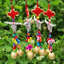 5pcs/set China Lucky Knot Metal Bell Chimes Pendant Door Decoration Ethnic Tourism Souvenirs Pary Gifts(China)