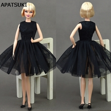 Doll Black Little Dress Cute Dancing Costume Ballet Dress Lace Skirt Dress Clothes For Barbie Doll Girls Love Christmas Gift Toy(China)