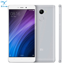 "Original Xiaomi Redmi 4  4100mAh Battery Fingerprint ID Snapdragon 430 Octa Core 5"" 720P 13MP Camera metal body mobilephone"