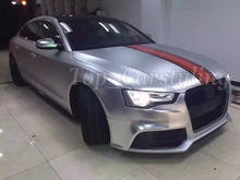 Hot Selling 1.52x20m PVC Super Car Wrap Vinyl Free Shipping Matte Chrome Silver Vinyl Roll
