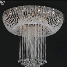 modern minimalist staircase hall crystal lamp hotel project lighting Ceiling Lights High-grade light(China)