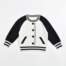 Autumn Winter Explosion Wind Cardigan boys girls Sweater Baseball Boys and Girls Children Cardigan