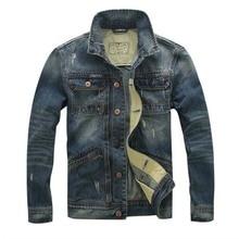 2017 jacket mens jackets coats man jeans jackets Denim military Stand collar coat male