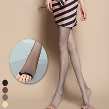 1 pc Summer Female Fashion Full Length Ladies Stretchy Anti-off Silk Cored Wire Fish Head Open Toe Pantyhose Stockings